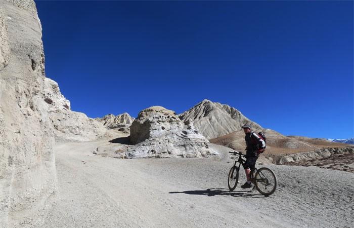 Upper mustang mountain biking tour with makalu adventures
