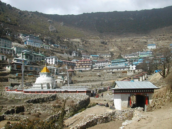 A view of namche bazar during everest base camp trekking