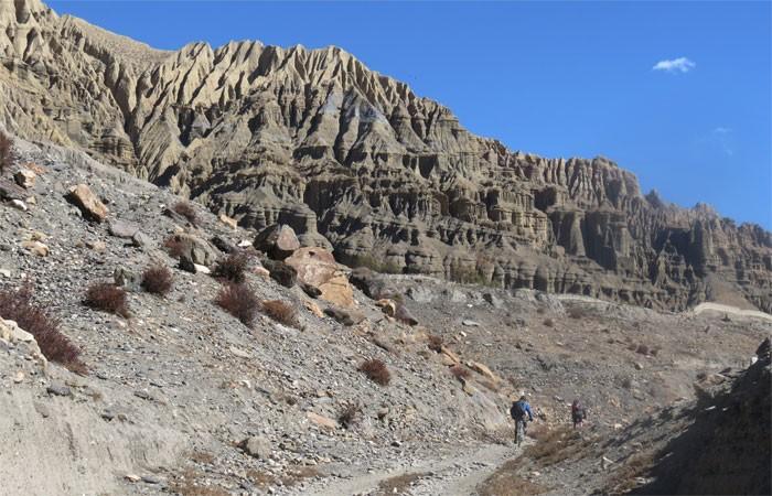 Syangboche to charang upper mustang mountain bike tour