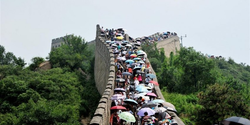 Badaling section of Great Wall in Beijing partly opens(4) |Great Wall Badaling Weather