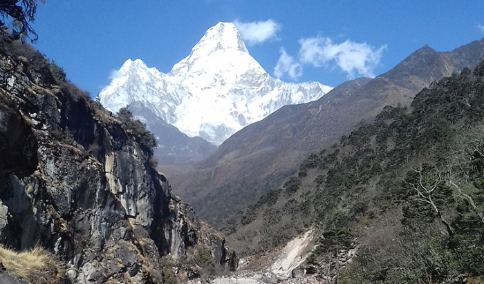 View of Amadablam from Nar Phu