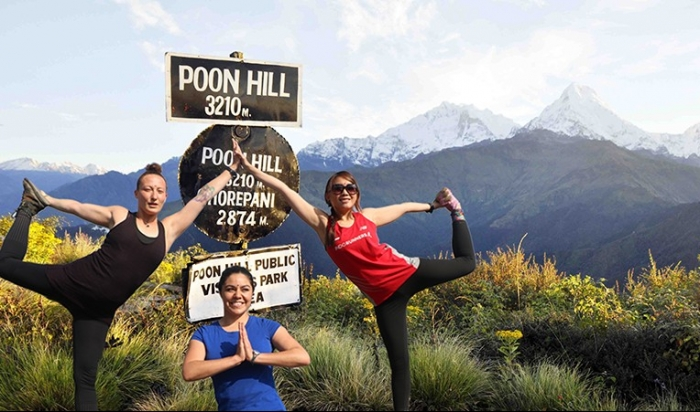 Yoga at Poon Hill