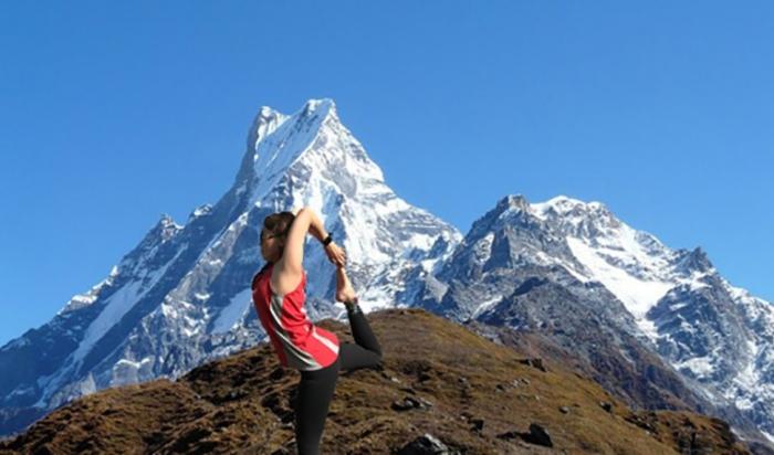 Yoga with Machhapuchhre